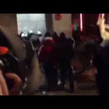Barcelone 17-01-2014 Protesters attacked Police Station!