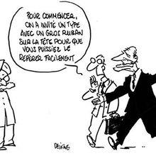 J.Chirac commence sa rééducation