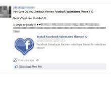 Facebook : thème Saint-Valentin traître