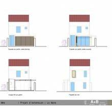 Extension en bois : Allegre+Bonandrini , architectes dplg.