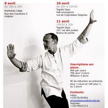 Allen Pittman en Belgique, 9 au 11 avril