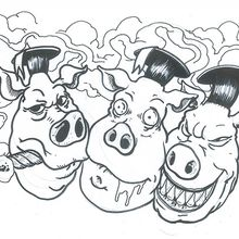 three little pigs before color.