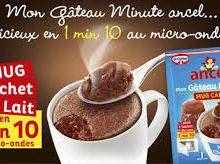 Test Gâteau Minute Mug Cake