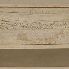 Traduction hiéroglyphes : Coffret en ivoire Mérenrê