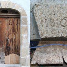 Les détails de la restauration d'une porte romane de 1810