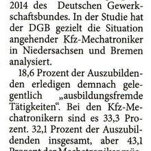 Harke 16.10.14 -- DGB-Jugend beklagt ausbildungsfremde Arbeit
