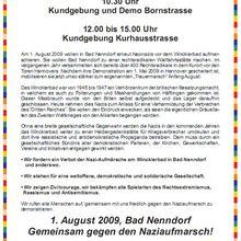 Bunt statt Braun - Gemeinsam gegen den Naziaufmarsch! Bad Nenndorf, 1. August 2009