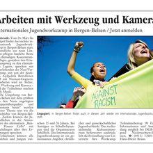 Walsroder Zeitung 6.3.12 -- Einladung zu Internat. workcamp Bergen-Belsen