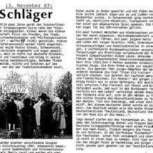 SS-Schläger auf dem Soldatenfriedhof bereits im Jahr 1983
