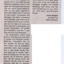 Munster: Den NDR-Mann nicht verfolgt