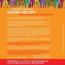 1. Mai 2009 - KEINEN METER - Gemeinsam gegen den Naziaufmarsch