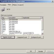 windows XP : installer une imprimante en IP