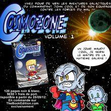 Premier volume de la bande dessinée Cosmozone disponible à partir du 25/09