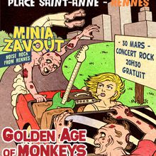 affiche concert Golden Age of Monkeys again !!