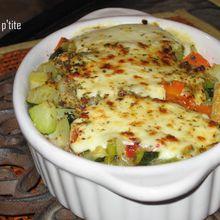 Gratin de riz aux légumes