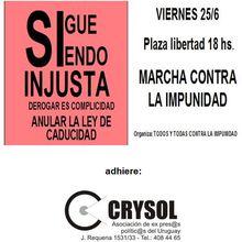 Uruguay: 25 de Junio: Marcha contra la impunidad