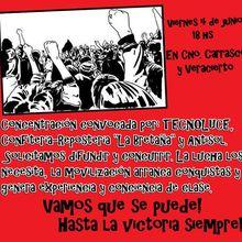 Uruguay: Algunos de los tantos trabajadores en conflicto.