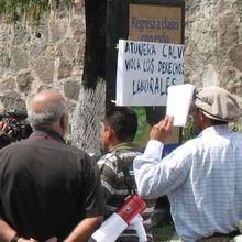 Calvo en El Salvador: de nuevo el atún antisindical