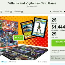 Villains & Vigilantes: Un jeu de cartes en Kickstarter