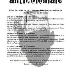 Semaine anticoloniale à Aubervilliers.