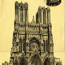 Gravure de la Cathédrale avant la guerre
