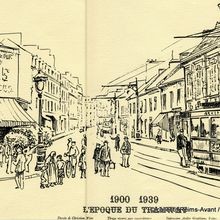 Dessin,1900/1939 L'époque du Tramway