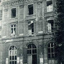 L'école Professionnelle, après les bombardements du 4 septembre 1914.