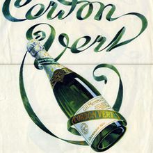 Champagne G.H.MUMM Cordon Rouge/Cordon Vert (illustration d'avril 1925)