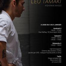 Léo Tamaki à Liège, 3 au 5 janvier