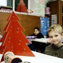 Sapins de Noël au CE1