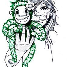 pour le blog de hutte des bois et petit singe vert !