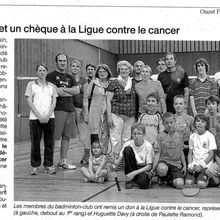 Don ligue contre le cancer : presse