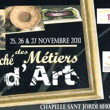 A ne pas manquer: marché des métiers d'art à Elne 25 au 27 novembre 11