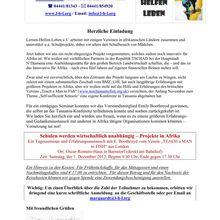 Barnstorf 1.12.12 -- Afrikaprojekt Landwirtschaftsschule u. Tansania-Konferenz