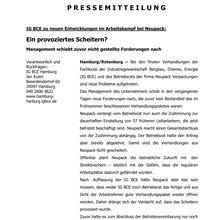 Pressemitteilung IG BCE 24.7.13 -- Im letzten Moment läßt Neupack Vetragsabschluss scheitern