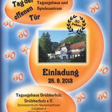 28.09.2013 - Tagungshaus und Spielezentrum Drübberholz wird 30 Jahre - Tag der offenen Tür