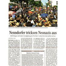 Harke/ HAZ 5.8.13 -- Bad Nenndorf: mit Blockaden Nazis ausgetrickst