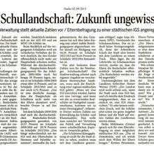 Harke 2.9.13 -- noch eine städtische IGS in Nienburg?