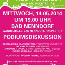 Bad Nenndorf 14.5.14 - Podiumsdiskussion über Agnes Miegel