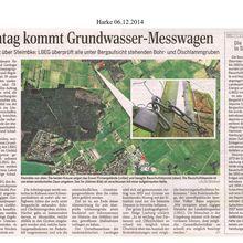 Harke 6.12.14 -- Steimbke: Grundwasser-Messwagen untersucht Bohr- und Ölschlamm