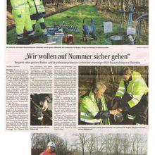 Harke 9.12.14 -- Steimbke: Boden- und Grundwasserproben wegen Exxon-Ölverseuchung