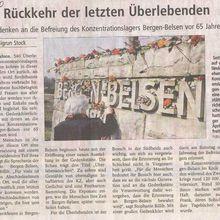 Rückkehr der letzten Überlebenden - Gedenken an die Befreiung des Konzentrationslagers Bergen-Belsen vor 65 Jahren