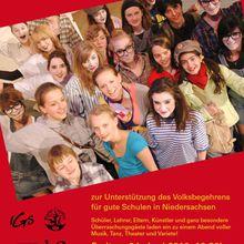 Galaabend zur Unterstützung des Volksbegehrens für gute Schulen an der IGS Langenhagen Fr. 4.6.10