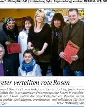 DGB-Rosen zum Int. Frauentag in Rethem/ Aller