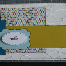 Carte smile en Stampin'up