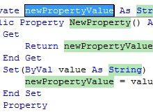 Property Getter Setter in VisualBasic.NET 2010