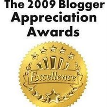 The 2009 blogger Appreciation Award