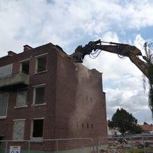 ANZIN : Carpeaux : démolition des bâtiments collectifs Platanes