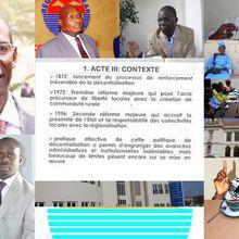 ACTE 3 DE LA DECENTRALISATION AU SENEGAL: ENVERS ET CONTRE TOUT !
