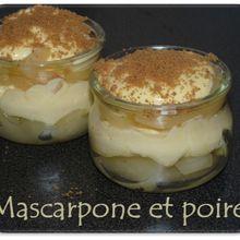 Dessert poire et mascarpone